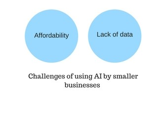 Challenges of using AI by smaller businesses