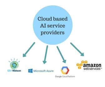Cloud based AI providers